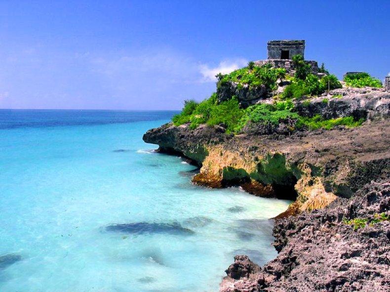 Mayan Ruins At Tulum Cancun Riviera Maya 2012 Cancun