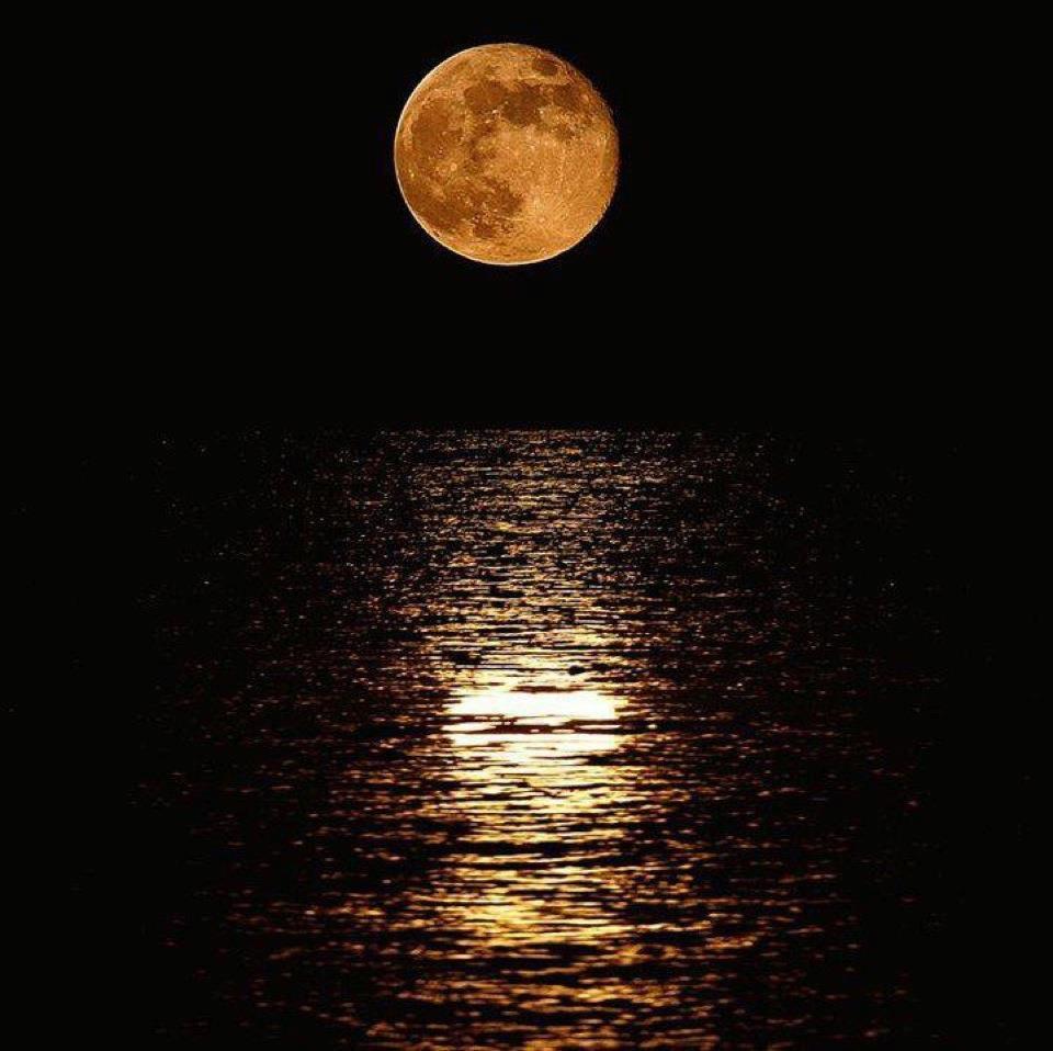 Full Moon Over Cancun Riviera Maya
